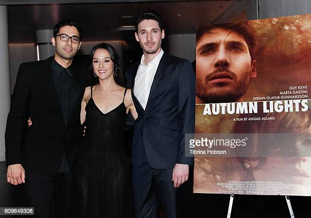 Angad Aulakh Marta Gastini and Guy Kent attend the Screening of Freestyle Releasing's 'Autumn Lights' at NeueHouse Hollywood on September 21 2016 in...
