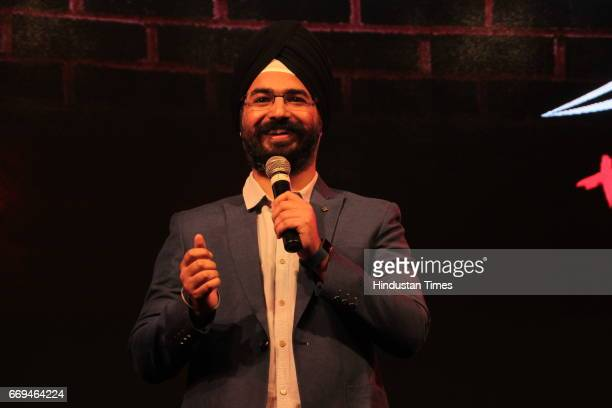 Angad Singh Ranyal of East India Company Group of Indian Standup Comedians at a party hosted by Daikin to celebrate the three years of togetherness...