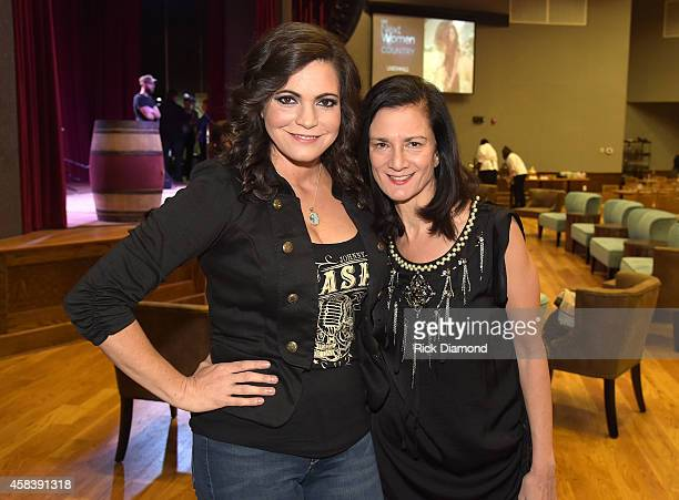 Angaleena Presley and CMT SVP Music Strategy Leslie Fram attend the CMT Next Women Of Country at City Winery Nashville on November 4 2014 in...