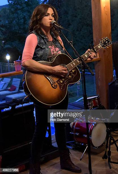 Angaleena Presley performs at the Media Mixer Party during Day 1 of the IEBA 2014 Conference on September 27 2014 in Nashville Tennessee