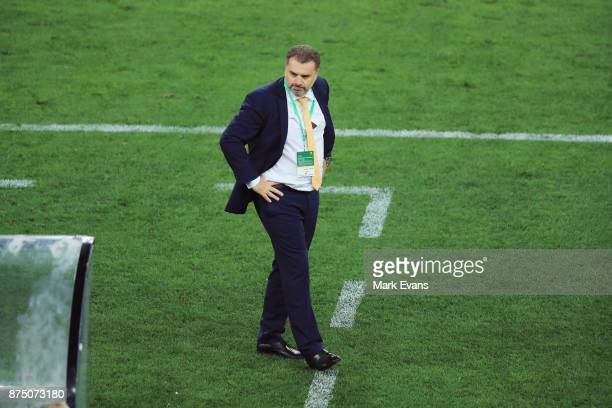 Ange Postecoglou during the 2018 FIFA World Cup Qualifiers Leg 2 match between the Australian Socceroos and Honduras at ANZ Stadium on November 15...