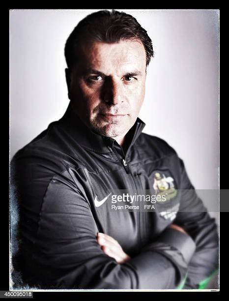 Ange Postecoglou manager of Australia poses during the official FIFA World Cup 2014 portrait session on June 4 2014 in Vitoria Brazil