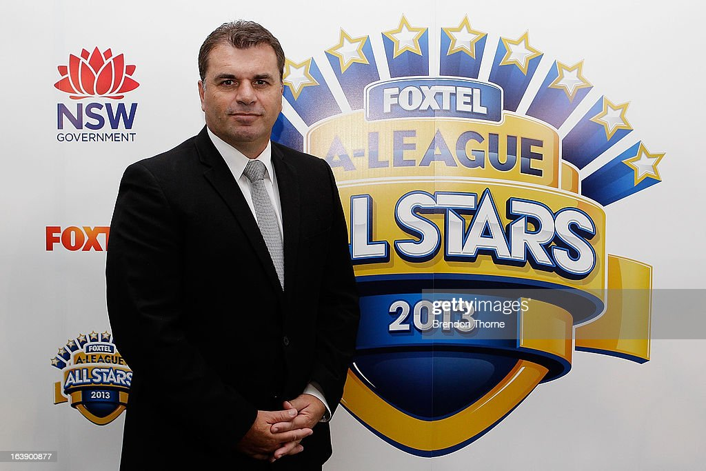 Ange Postecoglou poses after being announced as coach of the Foxtel A-League All Stars to face Manchester United during a FFA All-Stars announcement at Blu Horizon on March 18, 2013 in Sydney, Australia.