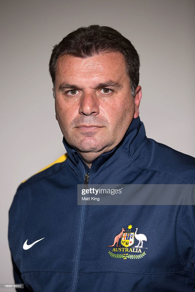 <a gi-track='captionPersonalityLinkClicked' href=/galleries/search?phrase=Ange+Postecoglou&family=editorial&specificpeople=3395755 ng-click='$event.stopPropagation()'>Ange Postecoglou</a> poses before a press conference at the FFA Headquarters on October 23, 2013 in Sydney, Australia. The FFA today announced Postecoglou as the Socceroos new head coach through to the 2018 World Cup.