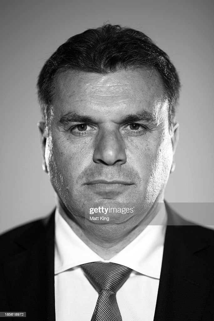 Ange Postecoglou poses before a press conference at the FFA Headquarters on October 23, 2013 in Sydney, Australia. The FFA today announced Postecoglou as the Socceroos new head coach through to the 2018 World Cup.