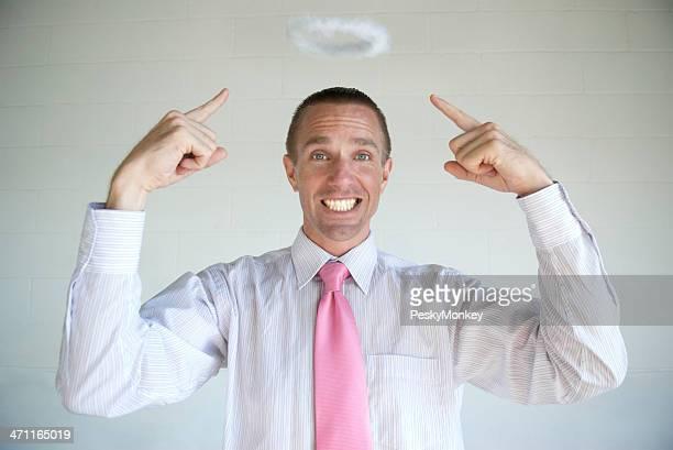 Angel Homme d'affaires affiche son de Halo moelleux