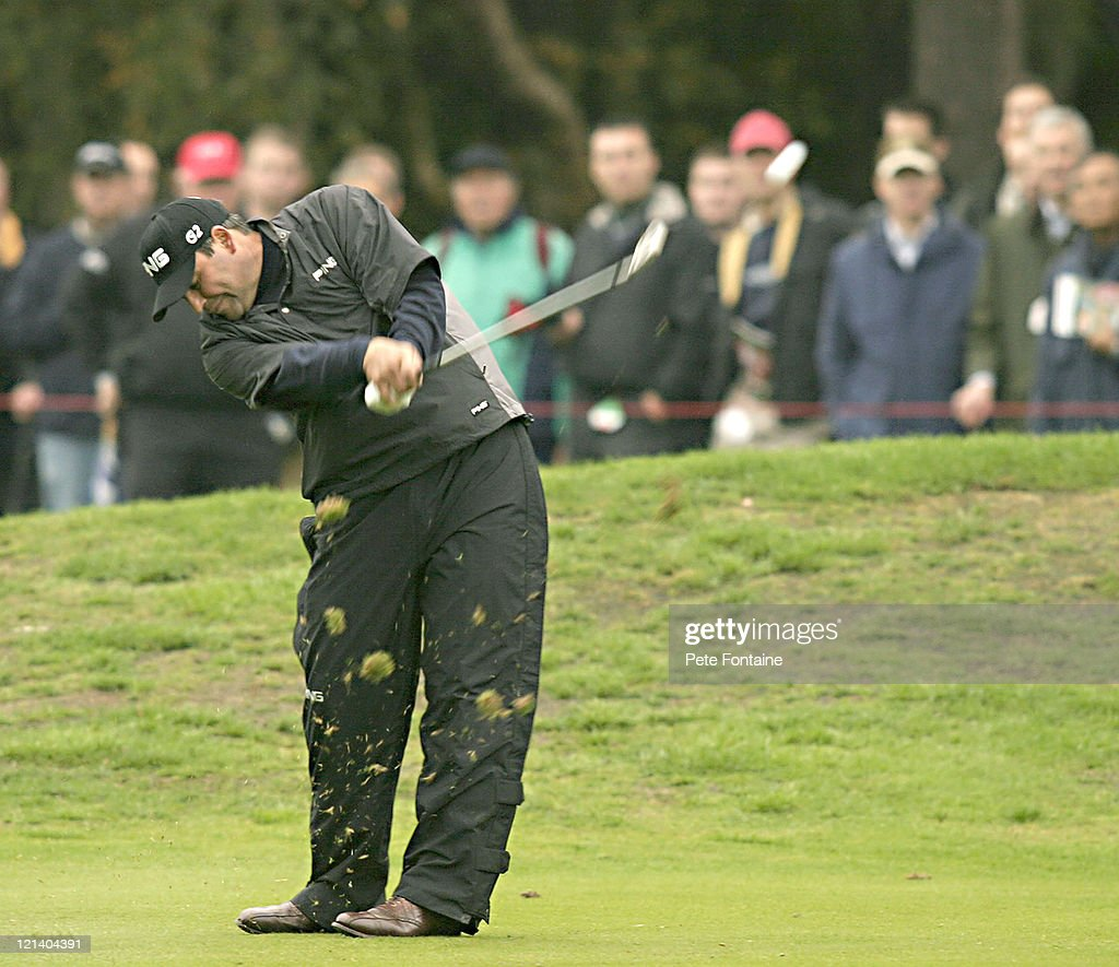 Angel Cabrera competes during the second round of the HSBC World Matchplay Championship held at Wentworth Golf Club's West Course October 15 2004