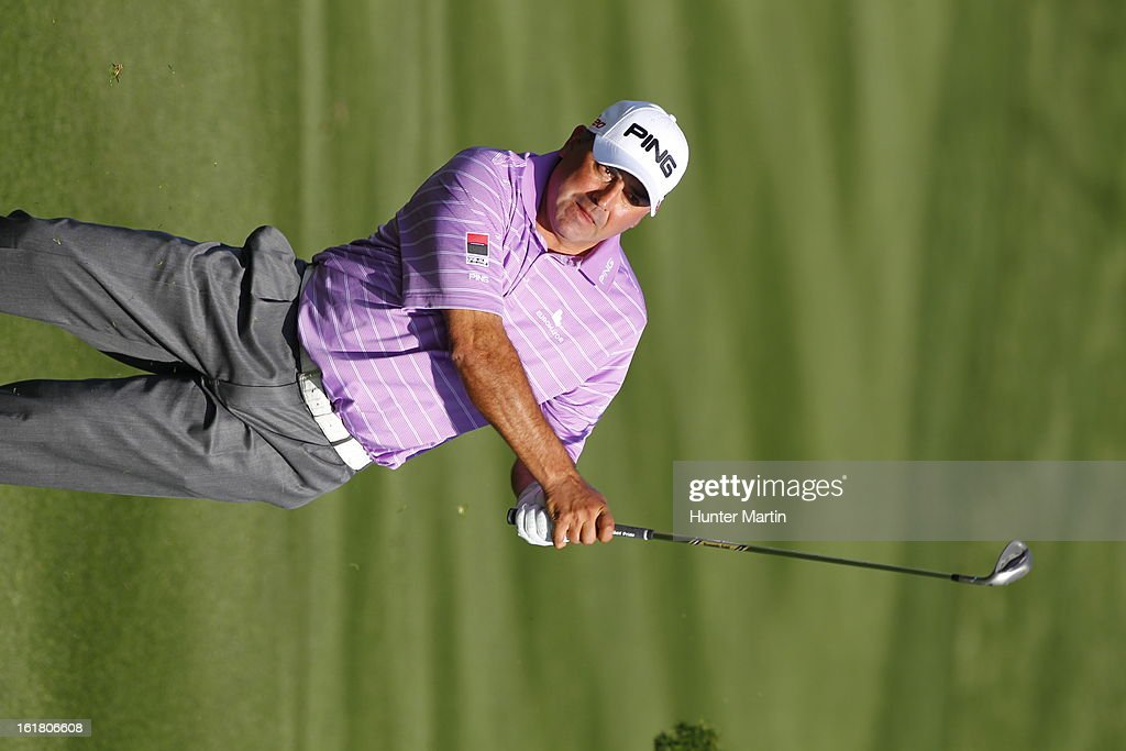 Angel Cabrera plays a shot during the third round of the Waste Management Phoenix Open at TPC Scottsdale on February 2, 2013 in Scottsdale, Arizona.