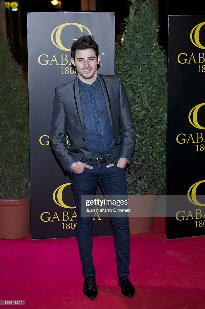 Angel Capel attends David Bustamante's dinner with friends at Gabana 1800 on January 15, 2013 in Madrid, Spain.
