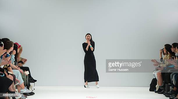 Angel Chen walks the runway of the Angel Chen show during London Fashion Week Spring/Summer 2016/17 on September 18 2015 in London England