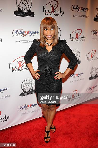 Angel Conwell appears at the Vivica A Fox Brian McKnight Performance of 'Cheaper To Keep Her' At The Wiltern Theatre on September 30 2010 in Los...