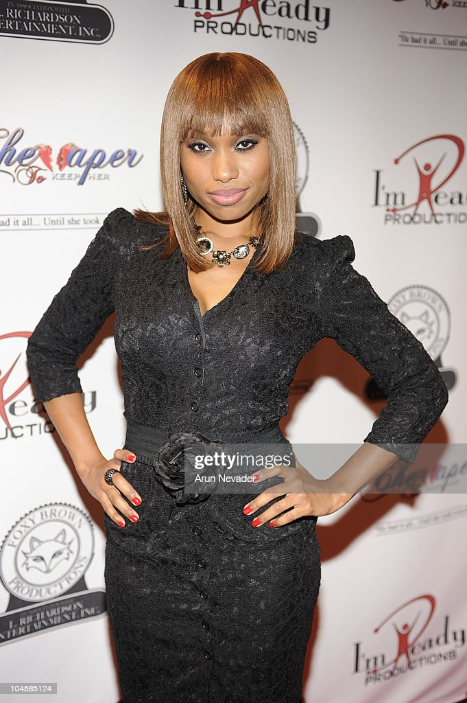 Angel Conwell appears at the Vivica A. Fox & Brian McKnight Performance of 'Cheaper To Keep Her' At The Wiltern Theatre on September 30, 2010 in Los Angeles, California.