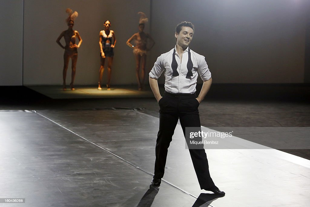 Angel Corella performs during the Andres Sarda's Tribute fashion show as part of the 080 Barcelona Fashion Week Autumn/Winter 2013-2014 on January 31, 2013 in Barcelona, Spain.