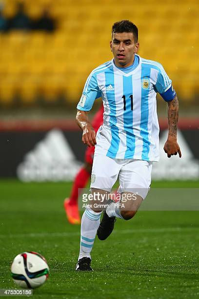 Angel Correa of Argentina controles the ball during the FIFA U20 World Cup New Zealand 2015 Group B match between Argentina and Panama at Wellington...