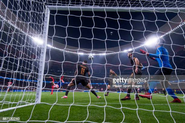 Angel Correa of Atletico de Madrid during the UEFA Champions League 201718 match between Atletico de Madrid and AS Roma at Wanda Metropolitano on 22...