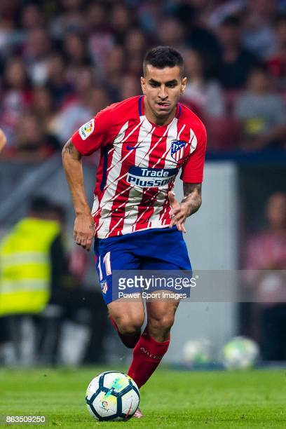Angel Correa of Atletico de Madrid in action during the La Liga 201718 match between Atletico de Madrid and FC Barcelona at Wanda Metropolitano on 14...