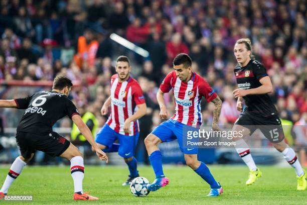 Angel Correa of Atletico de Madrid in action during their 201617 UEFA Champions League Round of 16 second leg match between Atletico de Madrid and...