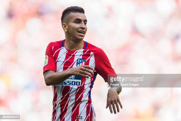 Angel Correa of Atletico de Madrid reacts during the La Liga 201718 match between Atletico de Madrid and Sevilla FC at the Wanda Metropolitano on 23...