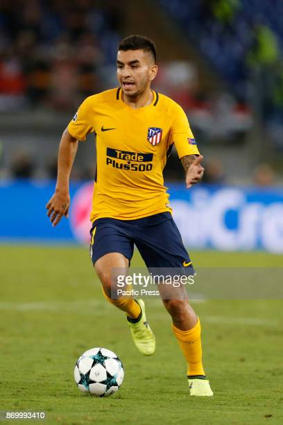 Angel Correa of Atletico Madrid during the UEFA Champions League Group C soccer match against Roma in Rome The match ended in a 00 draw