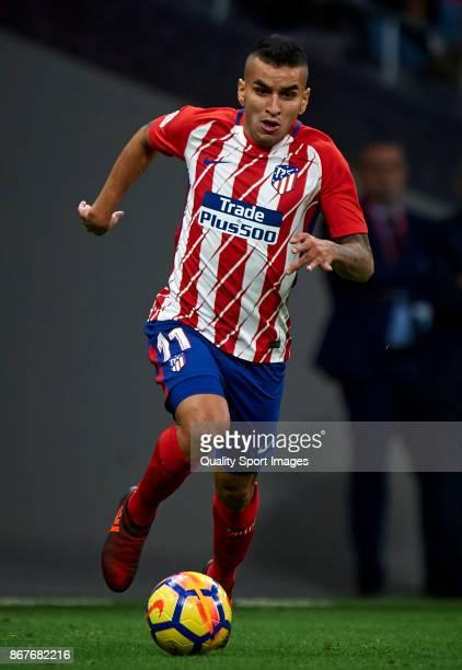 Angel Correa of Atletico Madrid in action during the La Liga match between Atletico Madrid and Villarreal at Estadio Wanda Metropolitano on October...