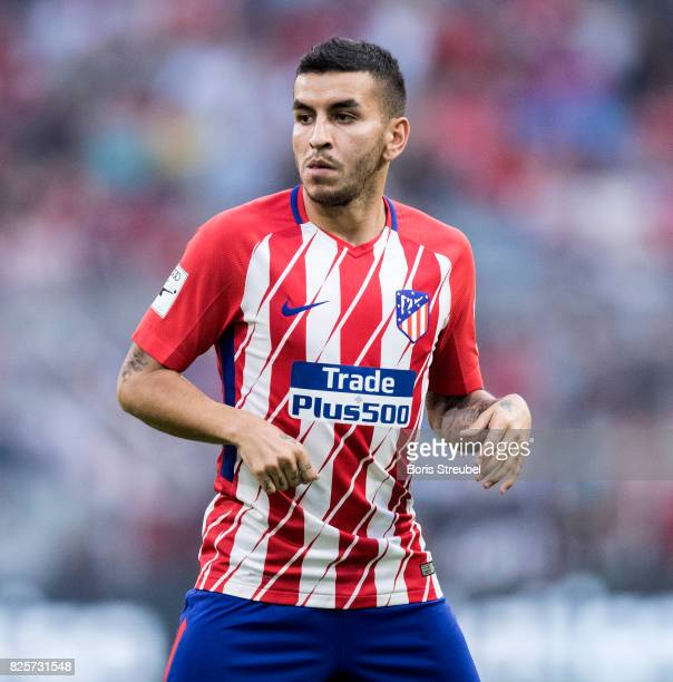 Angel Correa of Atletico Madrid looks on during the Audi Cup 2017 match between Club Atletico de Madrid and SSC Napoli at Allianz Arena on August 1...