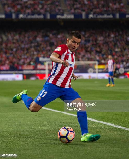 Angel Correa of Club Atletico de Madrid in action during the La Liga match between Club Atletico de Madrid and Villarreal CF at estadio Vincente...