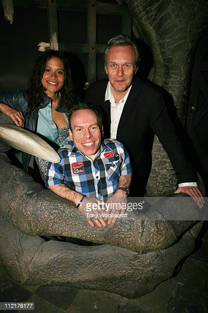 Angel Coulby Warwick Davis and Anthony Head attend the launch of a new attraction based on the hit BBC One drama series at Warwick Castle on April 13...