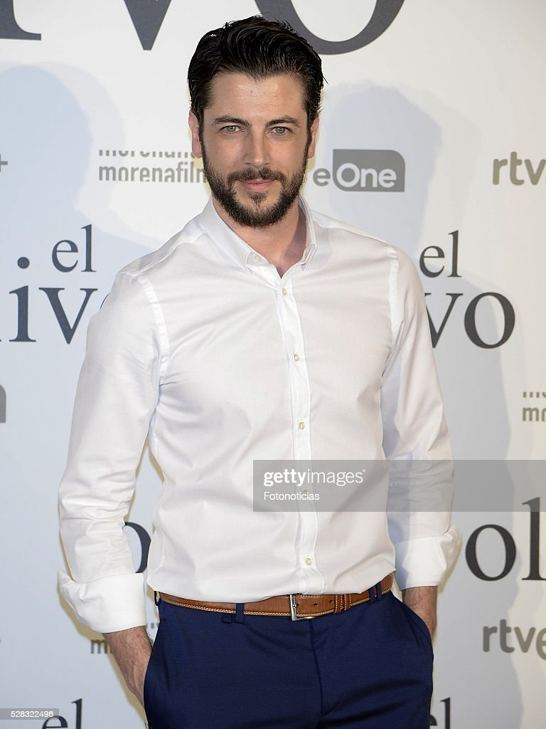 Angel de Miguel attends the premiere of 'El Olivo' at the Capitol cinema on May 4, 2016 in Madrid, Spain.
