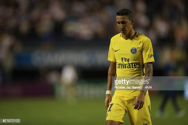 Angel Di Maria of Paris SaintGermain walks off dejected during the International Champions Cup match between Paris SaintGermain and Tottenham Hotspur...