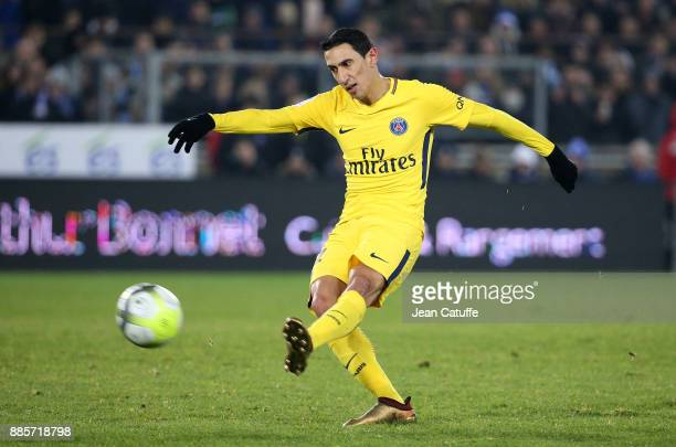 Angel Di Maria of PSG during the French Ligue 1 match between RC Strasbourg Alsace and Paris Saint Germain at Stade de la Meinau on December 2 2017...