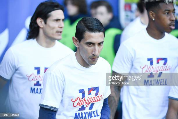 Angel Di Maria of PSG during the Ligue 1 match between Paris SaintGermain and SM Caen at Parc des Princes on May 20 2017 in Paris France