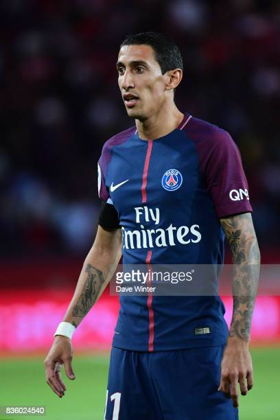 Angel Di Maria of PSG during the Ligue 1 match between Paris Saint Germain and Toulouse at Parc des Princes on August 20 2017 in Paris