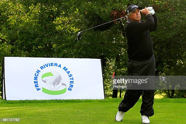 Angel Franco of Paraguay in action during day two of the French Riviera Masters played on The Chateau Course at Terre Blanche Spa Golf Resort on...