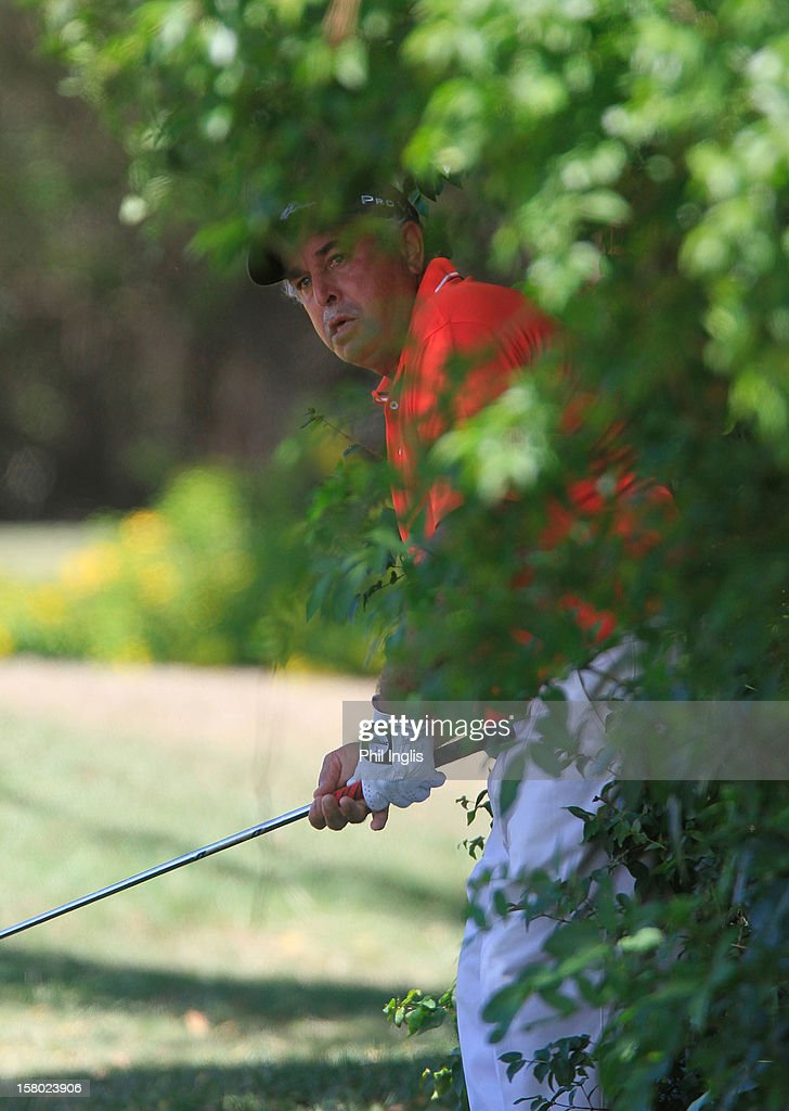 Angel Franco of Paraguay in action during the final round of the MCB Tour Championship played at the Legends Course, Constance Belle Mare Plage on December 9, 2012 in Poste de Flacq, Mauritius.