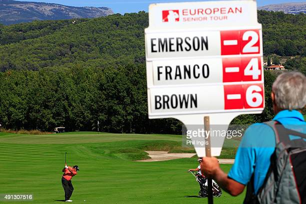 Angel Franco of Paraguay in action during the final round of the French Riviera Masters played at the Chateau CourseTerre Blanche Spa Golf Resort on...