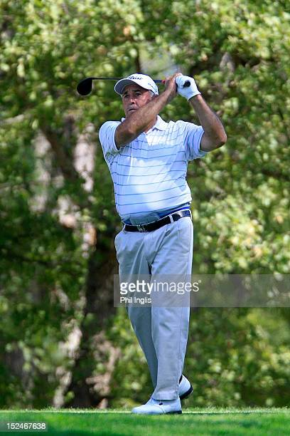 Angel Franco of Paraguay in action during the first round of the French Riviera Masters played on the Chateau course Terre Blanche Resort on...