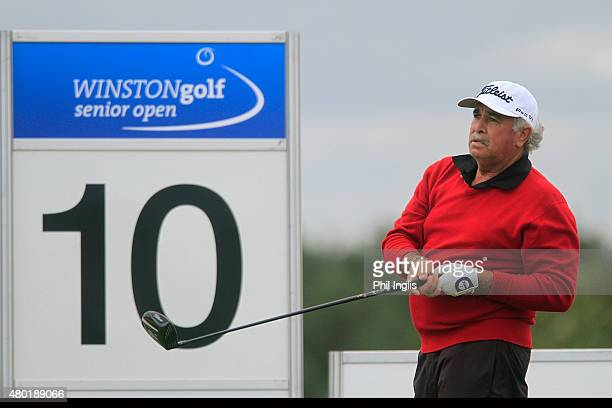 Angel Franco of Paraguay in action during the first round of the Winston Senior Open played at WinstonGolf on July 10 2015 in Schwerin Germany