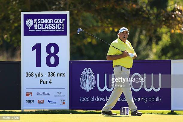 Angel Franco of Paraguay in action during the first round of the Willow Senior Golf Classic played at Hanbury Manor Marriott Hotel and Country Club...