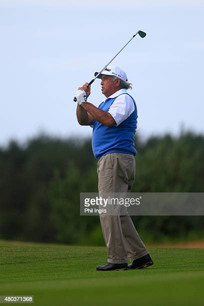 Angel Franco of Paraguay in action during the second round of the Winstongolf Senior Open played at WinstonGolf on July 11 2015 in Schwerin Germany