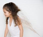 Angel girl smiling