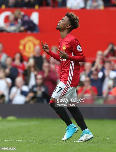 Angel Gomes of Manchester United in action during the Premier League match between Manchester United and Crystal Palace at Old Trafford on May 21...