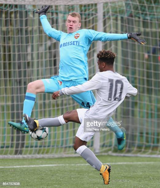 Angel Gomes of Manchester United U19s in action during the UEFA Youth League match between CSKA Moskva U19s and Manchester United U19s at Oktyabr...