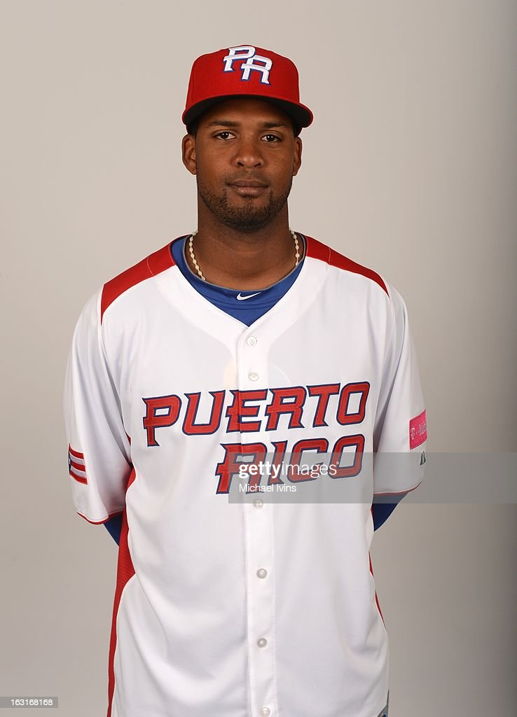 Angel Gonzalez #26 of Team Puerto Rico poses for a headshot for the 2013 World Baseball Classic at the City of Palms Baseball Complex on Monday, March 4, 2013 in Fort Myers, Florida.