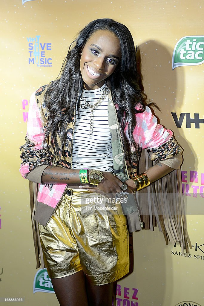 Angel Haze attends Perez Hilton's One Night In Austin event at the Austin Music Hall during the South By Southwest Music Festival on March 16, 2013 in Austin, Texas.
