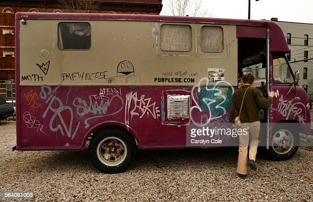 NEW YORK – Angel Hess's home is a purple bread truck in Brooklyn now parked in a lot The 100–square–foot pad is outfitted with bamboo floors...