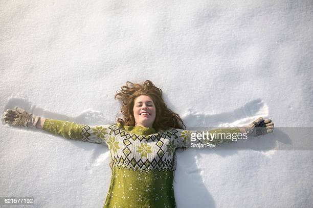 Angel in the snow
