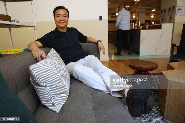 Angel investor David S Chang poses for a portrait at WeWork St James in Boston on Jun 20 2017