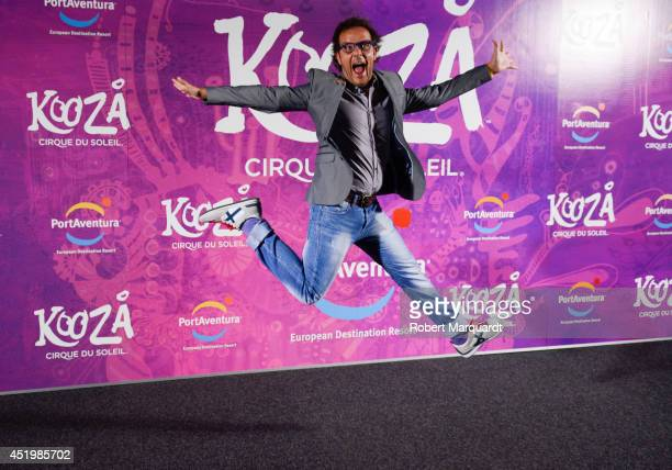 Angel Llacer poses during a photocall for the premiere of 'Kooza' a Cirque du Soleil production at Portaventura on July 10 2014 in Salou Spain
