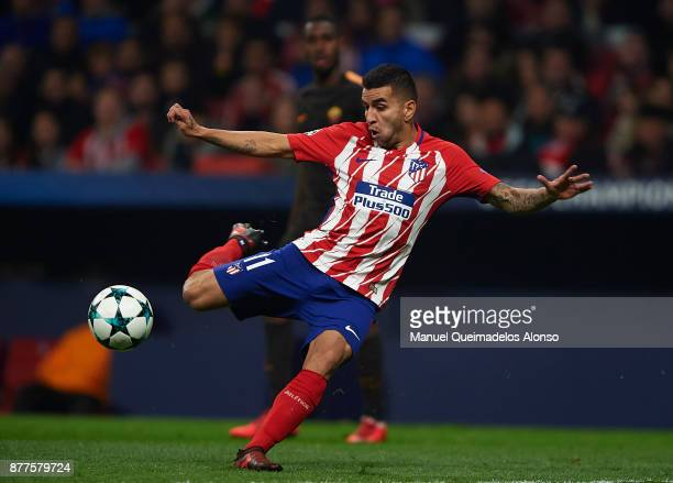 Angel Martin Correa of Atletico de Madrid in action during the UEFA Champions League group C match between Atletico Madrid and AS Roma at Estadio...