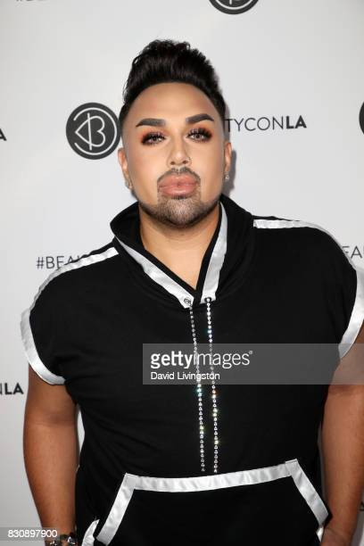Angel Merino attends Day 1 of the 5th Annual Beautycon Festival Los Angeles at the Los Angeles Convention Center on August 12 2017 in Los Angeles...